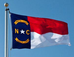 North Carolina State Flag Banner Super-Poly 5x8 foot (150D Super Polyester)