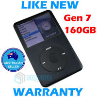 160GB Black 7th Generation APPLE IPOD CLASSIC MP3 Player - AS NEW!