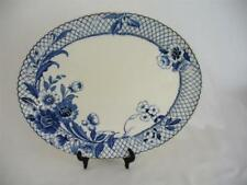 Platters 1900-1919 (Art Nouveau) Date Range Blue & White Transfer Ware Pottery