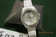 Fossil ES3252 Riley Silver White Strap Multifunction Womens Watch  F89A