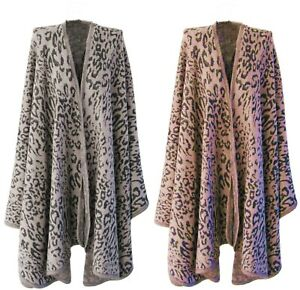 Handbag Bliss Animal Print Shawl Wrap Cape Two Colour Ways One Size Fits All