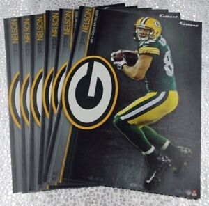 """6 Fathead Jordy Nelson Green Bay Packers NFL Decal Team Logo 7"""" Tradables"""