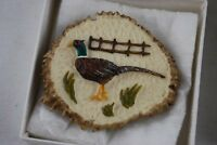 "ELK HORN Sculpture Belt Buckle Handmade Idaho ""Special Edition"" Pheasant Bird"