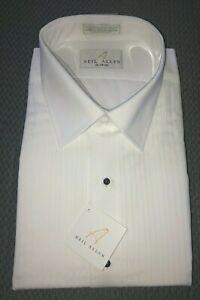 Neil Allyn White Tuxedo Long Sleeve Shirt