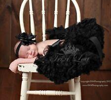 Black Fluffy Full Newborn Baby Pettiskirt Photo Shoot Prop 0-6 Months