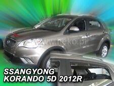 SSANGYONG KORANDO  2012 -  5.doors  Wind deflectors  4.pc  HEKO  28911