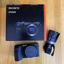 Sony Alpha a6600 4K Mirrorless Camera - Body, Box, Dummy Battery, Micro-HDMI
