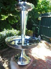 ANTIQUE ENGLISH SILVER PLATE EPERGNE TABLE CENTRE PIECE TRUMPET VASE c1910