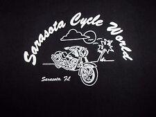 Sarasota FL graphic  Cycle World sleeveless M t shirt pink motorcycle