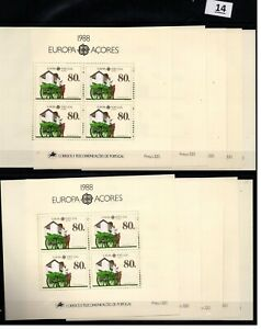 CB 10X PORTUGAL - MNH - EUROPA CEPT 1988 - TRANSPROT - HORSES - AZORES
