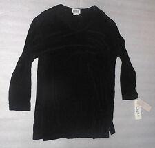 U.S. Wear Black Long Sleeve Womens Stretch Top Lightweight Shirt XL NWT