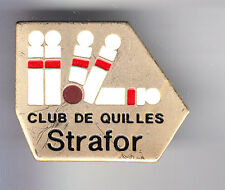 RARE PINS PIN'S .. SPORT BOWLING CLUB TEAM DE QUILLES STRAFOR FRANCE EM ~CQ
