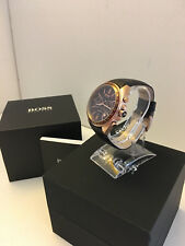 Hugo Boss Mens Driver Chronograph Brown Leather Strap Watch HB1513093