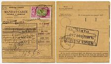 FRENCH GUINEE MANDAT CARTE 1933 CHEQUES POSTAUX