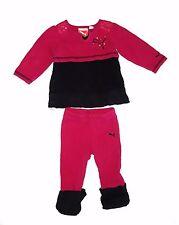 PUMA Girls size 6-9 months Magenta/Black 2 piece outfit/set - Shirt and Pants