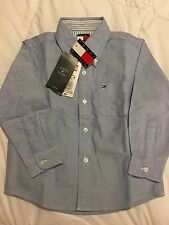 Tommy Hilfiger Oxford Dress Button Chambray Blue Shirt Boys 2-2T New With Tags