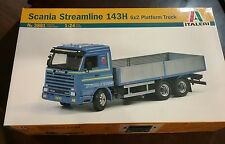 Italeri 3881 1/24 Scale Scania Streamline 143H 6x2 Platform Truck Model Kit #25