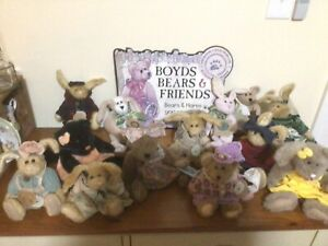 LOT 13 BOYDS BEARS FRIENDS PLUSH BAILEY EMILY BABBIT BARKLEY LIZA J BERRIJAM