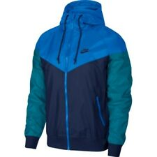 Nike Men's Navy/Battle Blue/Teal Windrunner Hooded Jacket (AR2191-411) S/M/L/XL