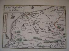 Carte de Nicolas Tassin gouvernement de calais 1634 France
