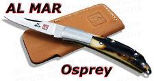 Al Mar OSPREY Stag Folder w/ Leather Pouch 1001S *NEW*