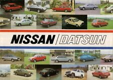 Datsun Nissan 1982-83 UK Brochure Cherry Sunny Stanza Bluebird Laurel 280 C ZX