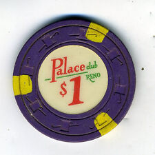 Old One Dollar Poker Chip Palace Club Casino Reno Nevada
