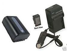 Battery + Charger for Sony DCRSR58E DCRSR68 DCR-SR68E
