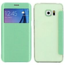 Smartcover Window Verde para Samsung Galaxy S6 Edge Plus G928 f Funda
