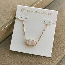 Kendra Scott Elisa Pendant Necklace Iridescent Drusy & Rose Gold