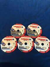 "Pack of 5 Lenox 1972920 4/"" x 5//8/"" Hole Metal Max Diamond Edge Cut Off Wheels"