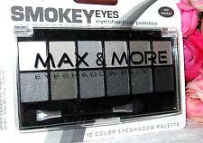 MAX & MORE Smokey Eyes Eyeshadow Palette 12 colors new