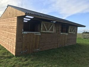 24ft x 12ft Mobile/ Fixed Double wooden stable block