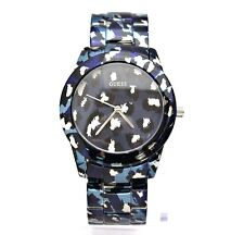 New Guess U0425L1 Blue Tone Iconic Animal Print Stainless Steel Women Watch