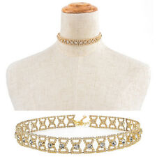 Women Crystal Rhinestone Pendant Choker Collar Bow Gold Chain Necklace Jewelry P