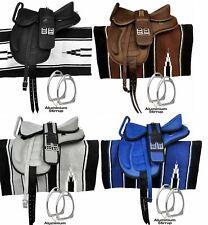 All Purpose Freemax Horse Saddle With Handle,Navajo Pad+Aluminum Strriups