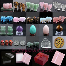 3D Carve Gemstone Well-Polished Feng Shui Collection DIY Home Office Decor W/Box