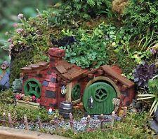 FIDDLEHEAD Fairy garden red brick Miniature House Opening Door Cottage Home Cute