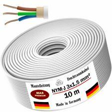 Feuchtraumkabel Stromkabel Mantelleitung 10 m NYM-J 3x1,5 mm² Elektrokabel