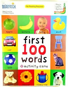 BriarPatch First 100 Words Activity Game Play & Learn System No Reading Required