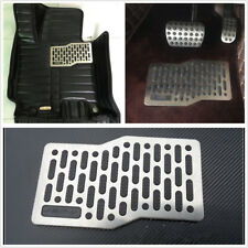 Car Truck Floor Mats Stainless Anti-slip Heel Plate Carpet Shoe Pedal Waterproof