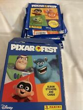 More details for 50 x panini disney pixar fest stickers collection comes with box new uk stock