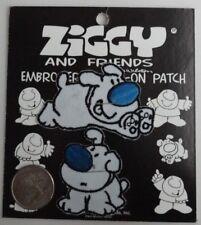 Ziggy's Dogs Classic Cartoon Iron On Patch Applique - New - Vintage Ziggy Comic