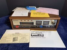 —FULLY WORKING!— SONY TC-228 8 Track Tape Deck Recorder With Paperwork