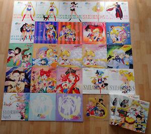 Sailor Moon LaserDisc (LD) Sammlung/Konvolut, 23 Stück, gebraucht, guter Zustand