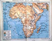 Lithographie Ansichten & Landkarten von Afrika