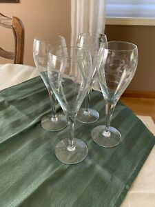 Princess House Tulip Champagne Glasses, set of 4
