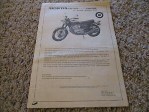 ENTEX CB750 HONDA FOUR ENGINE  MOTORCYCLE MODEL  1/3 INSTRUCTIONS ONLY