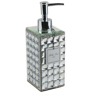 Bella Lux Sparkling Mirrored Rhinestones Soap Lotion Dispenser