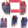 Cashmere Shawl Wrap Handwoven Travel Stole Scarf Nepalese Reversible Pashmina